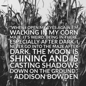 Student Novel Writing - Addison Bowden